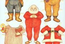 paper dolls christmas