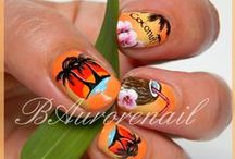 Tropical style nails