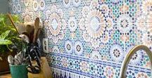 Tiles / Pattern repeats, colour pops and eclectic tile formations inspire us