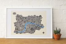 Beautiful illustrations of London and the World for sale... / Pick up some of these amazing prints at our brand new spanking GLP store