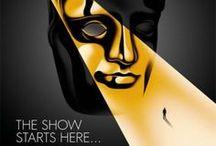 The show starts here / Cada año los premios British Academy Film Awards (BAFTA) escogen a un estudio creativo para el diseño de sus invitaciones y material impreso, en esta edición del 2014 fueron creados por Human After All e ilustrados por La Boca; Trabajo en conjunto para lograr un excelente resultado.