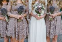 bridesmaids and flower girl. / by Lindsay Webster