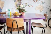 Purple Rooms. / Beautiful Purple Rooms. Maybe violet inspiration in the home. Wallpaper paint and home furniture