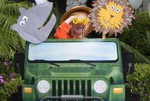 Thema: 'Met de jeep door het oerwoud'.