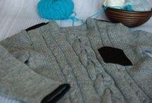 Sweterek Hendy One Boy - wiosna 2015 / Pierwsze nasze produkty, które łączą nowoczesne wzornictwo z tradycyjną metodą wykonania, czyli są robione na drutach.