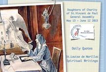 Quotes of Saint Louise de Marillac [English] / Daily quotes from the works of Saint Louise de Marillac arranged for the 2015 General Assembly of the Daughters of Charity of Saint Vincent de Paul #AG2015FdlC