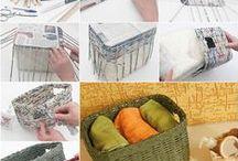 újságpapírból tárgyak / papírvessző készítés és kosárfonás