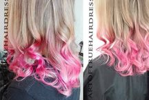 turqoise/blue/pink/ombre