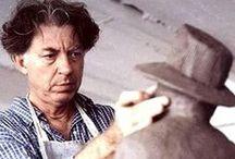 """Jean Michel Folon / """"Tutte le mie sculture guardano il cielo, è un cammino verso il cielo nella scultura"""" Jean Michel Folon"""