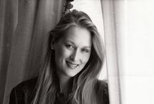 Meryl Streep (B&W) / The American Actress. The Living Legend.