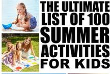 Summer with kids. Ideas, trips and ways to spend the summer with children.