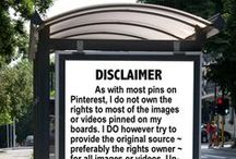 DISCLAIMERS / DISCLAIMERS
