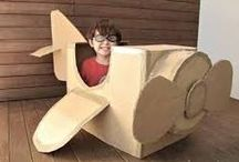 Cardboard Craft Projects / Using cardboard and paper recycled and new to make cool interesting projects with children and for adults too