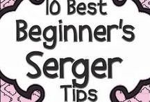 """Serger Inspiration / Sergers can do so much more than finish off seams. Soon you will be asking yourself """"How did I ever live without a serger?"""""""