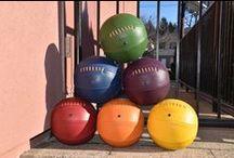ColorFul Basketballs / Colorful Leather Head Baskteballs