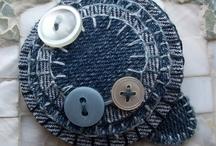 jean denim recyclé / by les doigts curieux