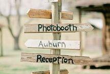 Bodas - carteles y pizarras / Carteles y pizarras indicadores en bodas