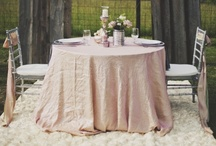 Table Skirts / Finding creative way to use table skirting for parties large and small.