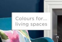 Colours for... Living Spaces / Your living rooms are a great place to showcase your own personal colours and style. So why play it safe?