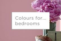 Colours for... Bedrooms / Finding the right colours for your bedrooms is really important. Create your perfect sanctuary with #Valspar colours, then shut the door and relax!