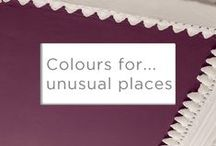 Colours for... unusual places / Unexpected colour is our favourite kind. So stop worrying about the walls, and find somewhere more interesting to paint!