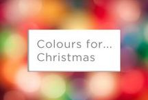 Colours for... Christmas / It's Christmas!! Opt for a bright, colour packed scheme this year and truly make it merry and bright.