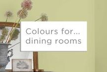 Colour for... Dining Rooms / There is something special about the places we sit down and share food with friends and family. So make them spectacular with the colours you love.