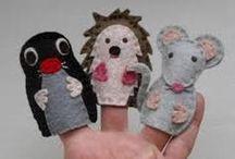 ujjbáb- puppets -puppetry / mese, játék, álmok, vágyak, kalandok - tűvel cérnával puppets - puppetry