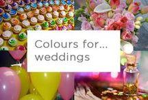 Colour for... Weddings / Even the traditional white wedding can be brightened up with a burst of colour! Check out some of these ideas.
