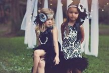 Vintage-Inspired Fashion (for kids) / Going vintage isn't just for grownups. Don't the little ones look elegant and adorable? (These dainty designs were handmade by me.)