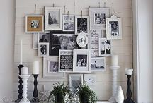 Gallery Wall / Ideas for wall groupings