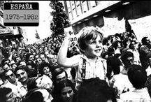 España, 1975-1982 / La Transición política española: de la muerte de Franco al triunfo socialista.  Una época convulsa e irresuelta de la historia de España recogida en las novelas y películas que encontrarás en ese tablero. Todos los documentos en la Biblioteca Manuel Alvar. ZGZ