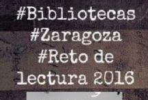 #BIBLIOTECAS MUNICIPALES #ZARAGOZA Reto de lectura 2016 / ¿EN QUÉ CONSISTE? Se trata de conseguir 16 objetivos de lectura durante el año 2016, leyendo un total de 24 libros ¿A QUIÉN ESTÁ DIRIGIDO? A usuari@s mayores de 14 años de las Bibliotecas Públicas Municipales de Zaragoza ¿TE APUNTAS AL RETO? Pregunta en la biblioteca y solicita tu diario y guía de lectura