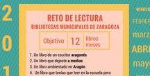 #RETO DE LECTURA 2017 #Bibliotecas municipales #Zaragoza / ¿EN QUÉ CONSISTE? Se trata de conseguir 12 objetivos de lectura durante el año 2017, leyendo un total de 12 libros ¿A QUIÉN ESTÁ DIRIGIDO? A usuari@s mayores de 14 años de las Bibliotecas Públicas Municipales de Zaragoza ¿TE APUNTAS AL RETO? Pregunta en la biblioteca y te ayudaremos. Todos los libros en Biblioteca Municipal Manuel Alvar (Zaragoza).