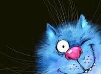 Rina Zeniuk Blue cats