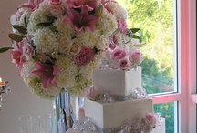 Hidden Valley Golf Course Wedding with Pink & White roses, China mums & Hydrangea Flowers / Pink & white wedding flowers with roses, hydrangeas and China mums (many times an over-looked flower).