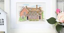 House Illustration / Bespoke hand drawn illustrations of lovely customers homes...
