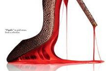 """Red Soles / """"Red is engaging, flirtatious, memorable and the color of passion"""""""