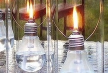 Re-purposed Light Bulbs / Neat ideas on things to do with your used lightbulbs