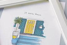 Front Door Illustrations / My bespoke illustrations of lovely customers Front Doors...
