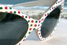 60's Sunglasses Fashion / 60s sunglasses for women and men / by 1960s Fashion Style