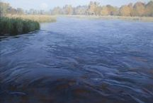 Waterscapes / Paintings of rivers, lakes and creeks shown at McLarry Fine Art