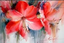 AQUAREL BLOEMEN / Watercolours - Flowers