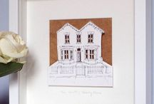 Personalised House Paper Cut