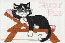 BORDUREN KATTEN - Cross stitch cats / Cross stitch cats.