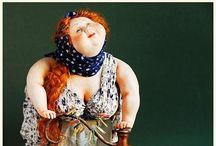 DIKKE DAMES - Fat Ladies Art Dolls