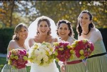 Hot Pink, Green, White & Chocolate Brown #Wedding #flowers at the Woodland Hills Country Club / Hot pink and green flowers a stunning combination for a #wedding.  Our bride did not know what she wanted but later was amazed by her wedding flowers.