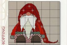 BORDUREN KERSTMAN - Santa Claus Crossstitch & MORE X-MAS STUFF