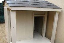 Niche avec terrasse couverte / Niche avec terrasse couverte en bois et toiture en ardoise