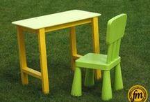 Petite table en bois pour enfants / Réalisation d'une petite table pour enfants.
